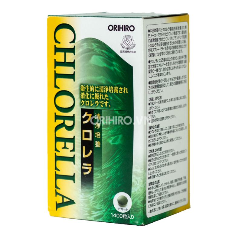 Tảo Lục Clean Chlorella hỗ trợ bảo vệ tim mạch Orihiro 1400 viên