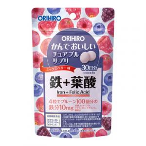 Vien bo sung Sat va Folic Acid Orihiro dang tui 120 vien