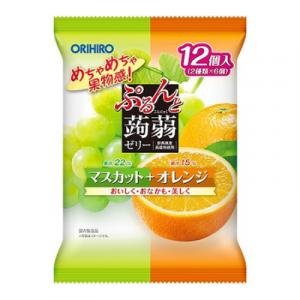 Thạch trái cây Orihiro vị nho xanh và cam