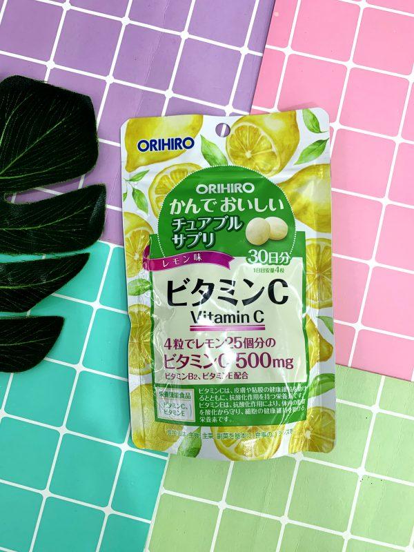 Viên uống Vitamin C Orihiro dạng túi 120 viên