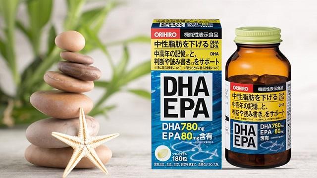 Trong mỗi viên uống bổ não DHA EPA Orihiro có hàm lượng chứa tới 780mg DHA và 80mg EPA cần thiết cho sự phát triển của mắt, não bộ