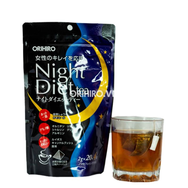 Night Diet Orihiro là loại trà giảm cân được sản xuất hoàn toàn bởi các thành phần tự nhiên