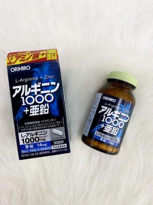 Viên uống tăng cường sinh lý nam giới L-Arginine 1000mg và Zinc Orihiro