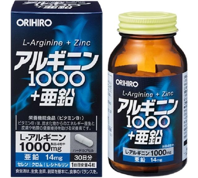 Tăng cường sức khỏe sinh lý bằng viên uống L-Arginine 1000mg và Zinc Orihiro