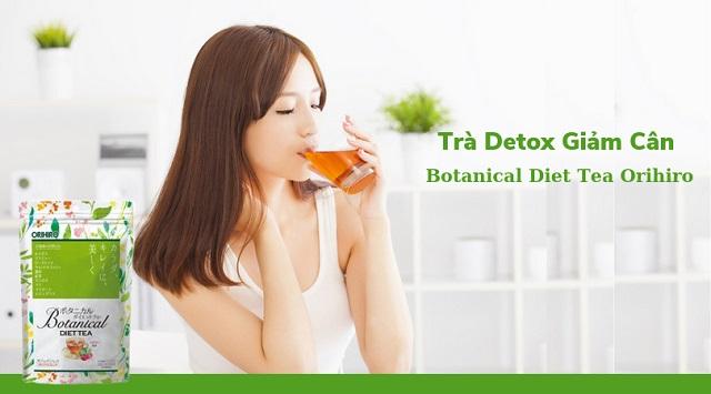 Dùng trà detox giảm cân kết hợp chế độ dinh dưỡng khoa học