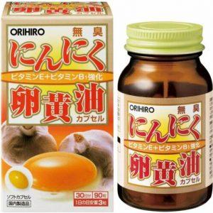Viên uống lòng đỏ trứng tỏi không mùi Orihiro 90 viên