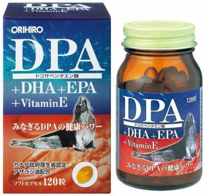 Viên uống bổ não DPA DHA EPA Vitamin E Orihiro 120 viên