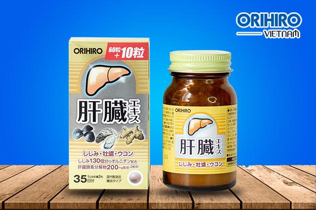 Viên uống bổ gan Shijimi Orihiro của Nhật