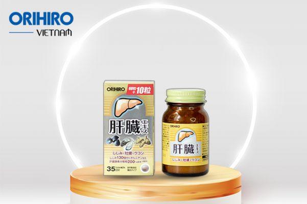 Viên uống bổ gan Shijimi Orihiro - Thực phẩm giải độc gan của Nhật