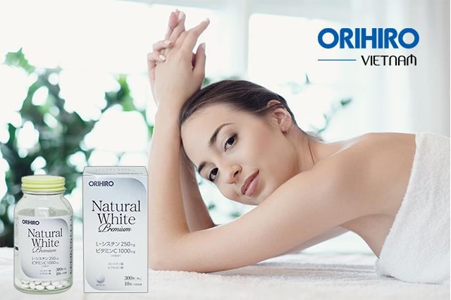 Viên uống trắng da Natural White Premium Orihiro 300 viên