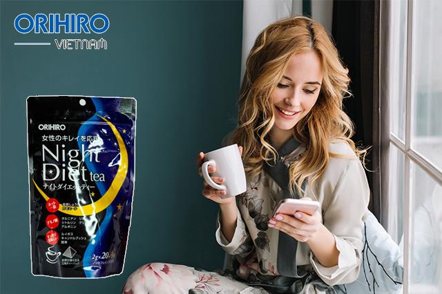 Trà giảm cân an toàn nhất hiện nay - Night Diet Tea Orihiro